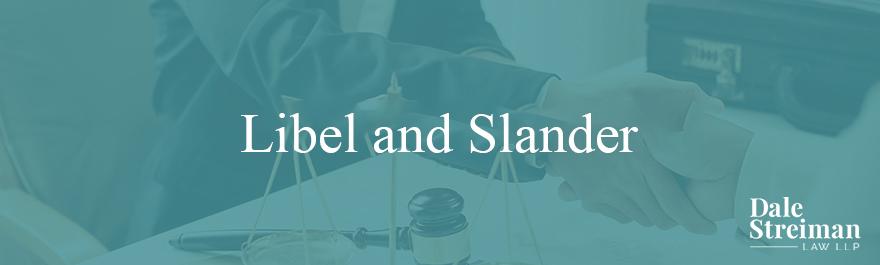 Libel and Slander